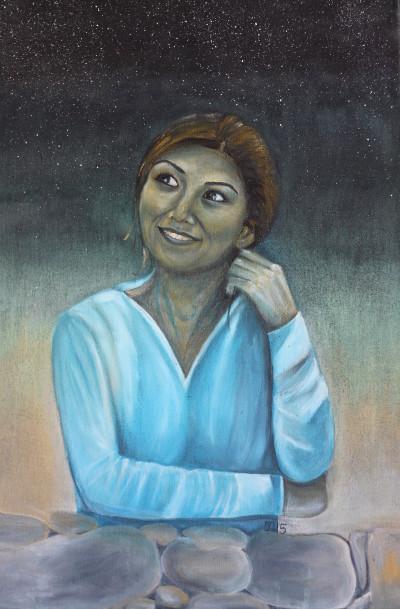Anis, 2015, Öl auf Leinwand, 110 cm x 70 cm