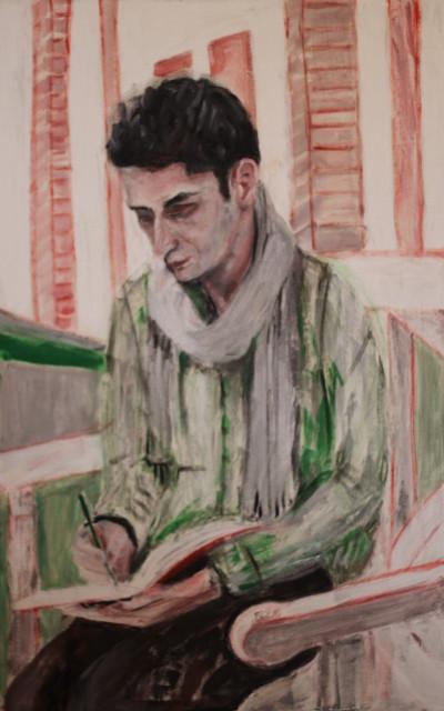 Mahdi, 2015, Öl auf Leinwand, 110 cm x 70 cm