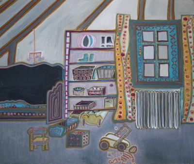 Kinderzimmer, 2015, Öl auf Karton, 33 cm x 39 cm