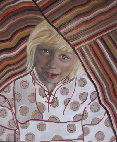Odetta, der Schalk, 2015, Öl auf Leinwand, 60 cm x 50 cm
