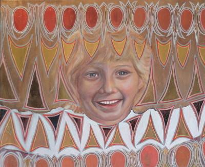 Zauberhafte Luise, 2015, Öl auf Leinwand, 50 cm x 60 cm
