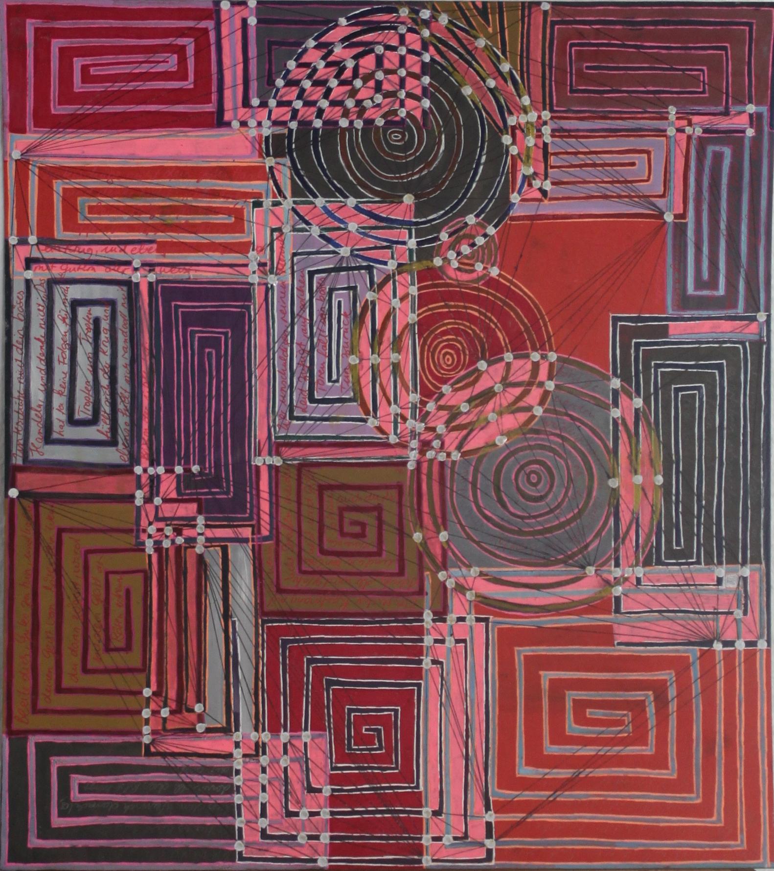 Sakura 9 - Die böse Tat; Mischtechnik auf Karton; 42 cm x 37 cm; 2018