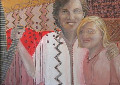 Henriette und Matthias, Öl auf Spanplatte, 65 x 85 cm