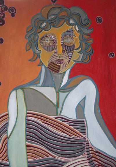 Zauberhafte Luise, 2015, Öl auf Karton, 42 cm x 60 cm