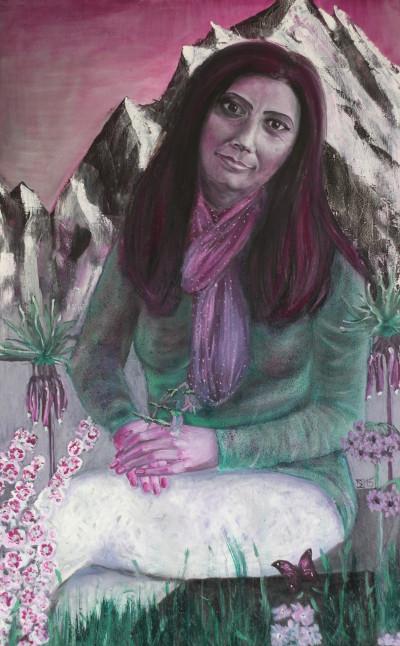 Marwa, 2015, Öl auf Leinwand, 70 cm x 110 cm