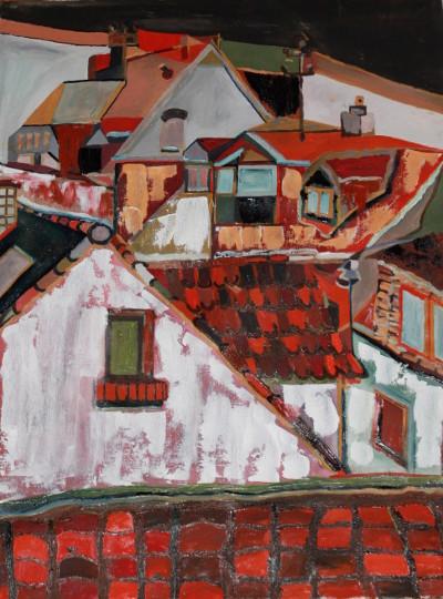 Erbenheim - Öl auf Leinwand, 45 cm x 60 cm