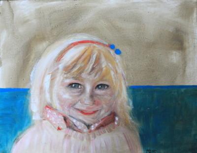 Odetta mit Haarreif, 2015, Öl auf Leinwand, 40 cm x 50 cm