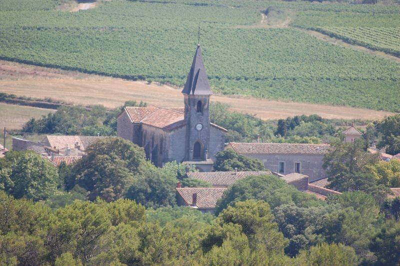 Vue du village du haut du Mont Saint Léon