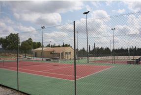 Une photo des courts de tennis du Tennis Club de Saint Bauzille