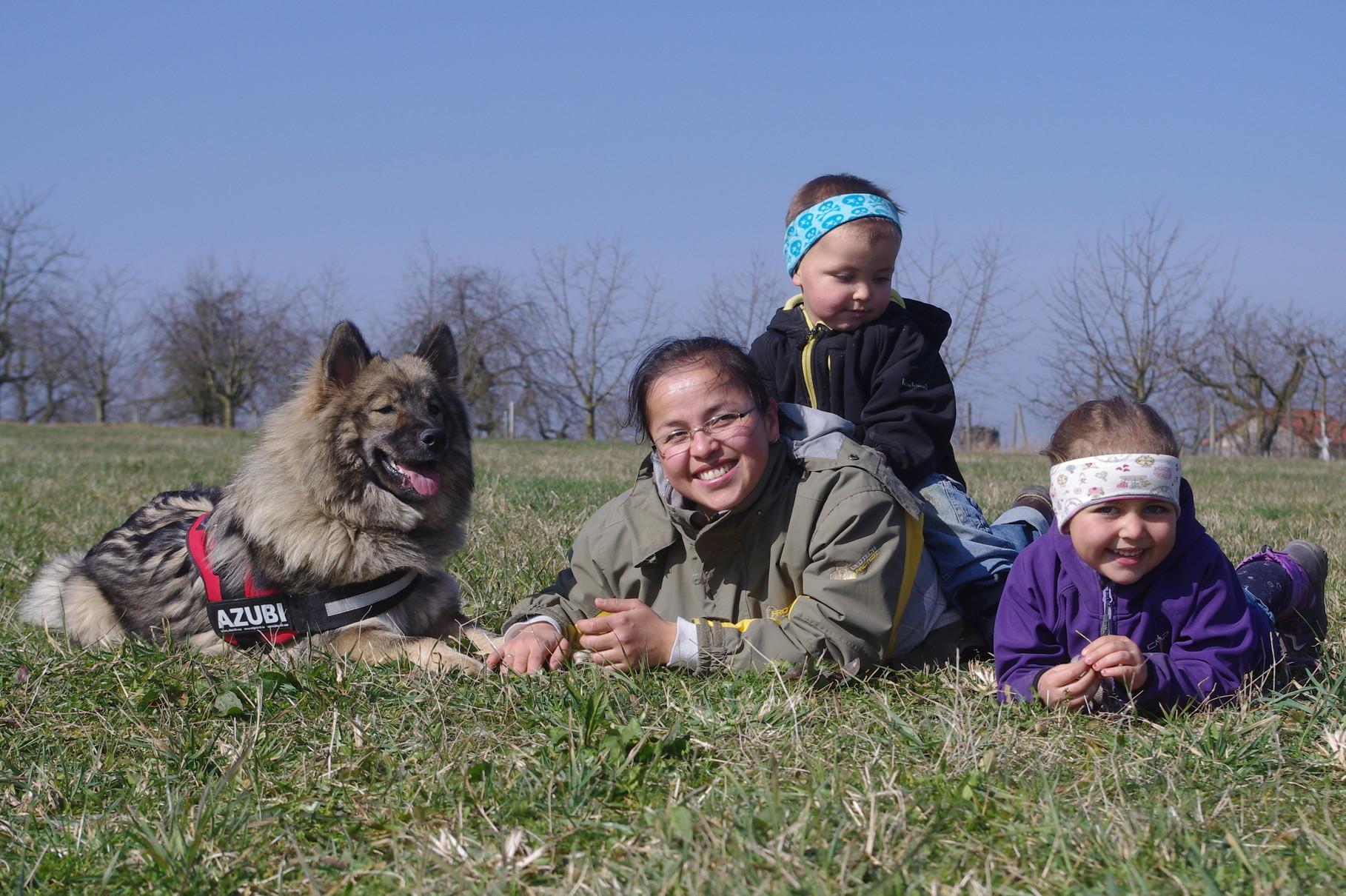 Shuna mit Ihrer Familie