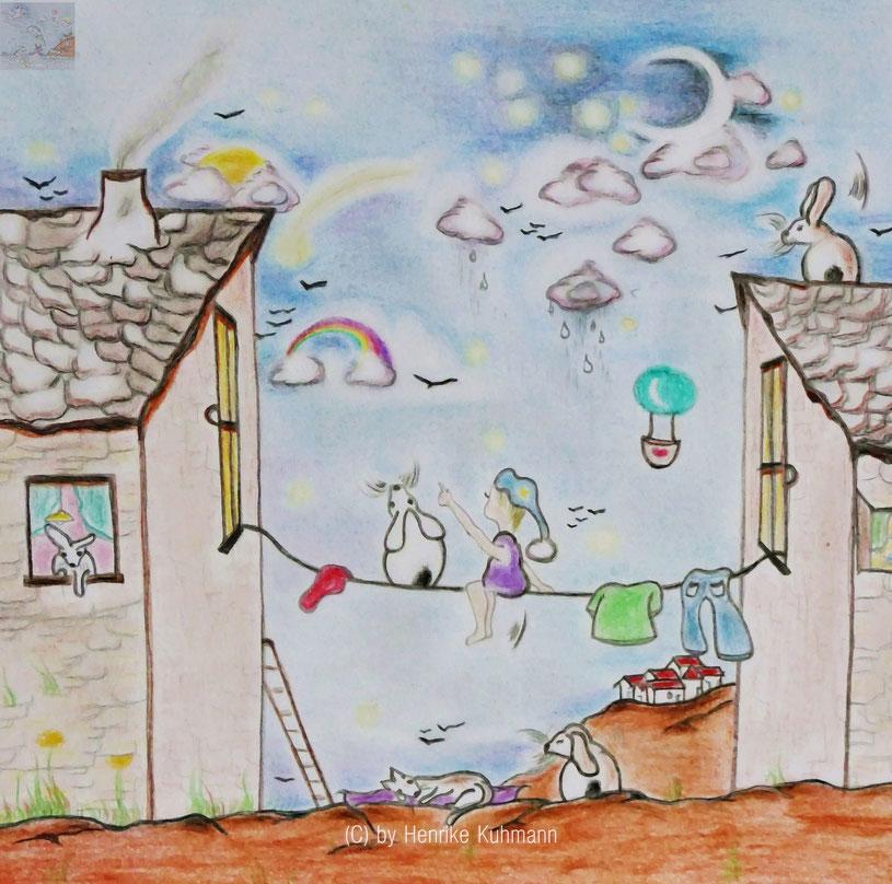 farbige Illustration über Träume