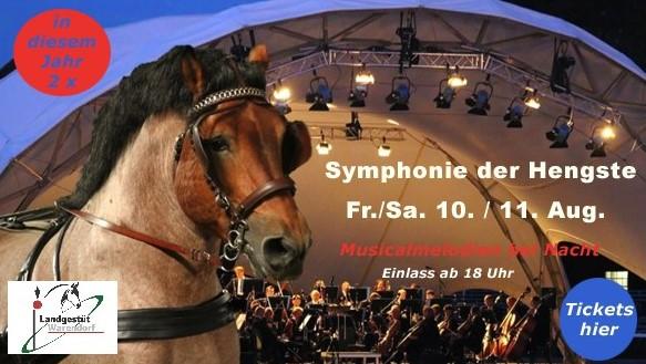 Symphonie der Hengste, Bühne, Konzertmuschel, Klassik Open Air, Bühne mieten