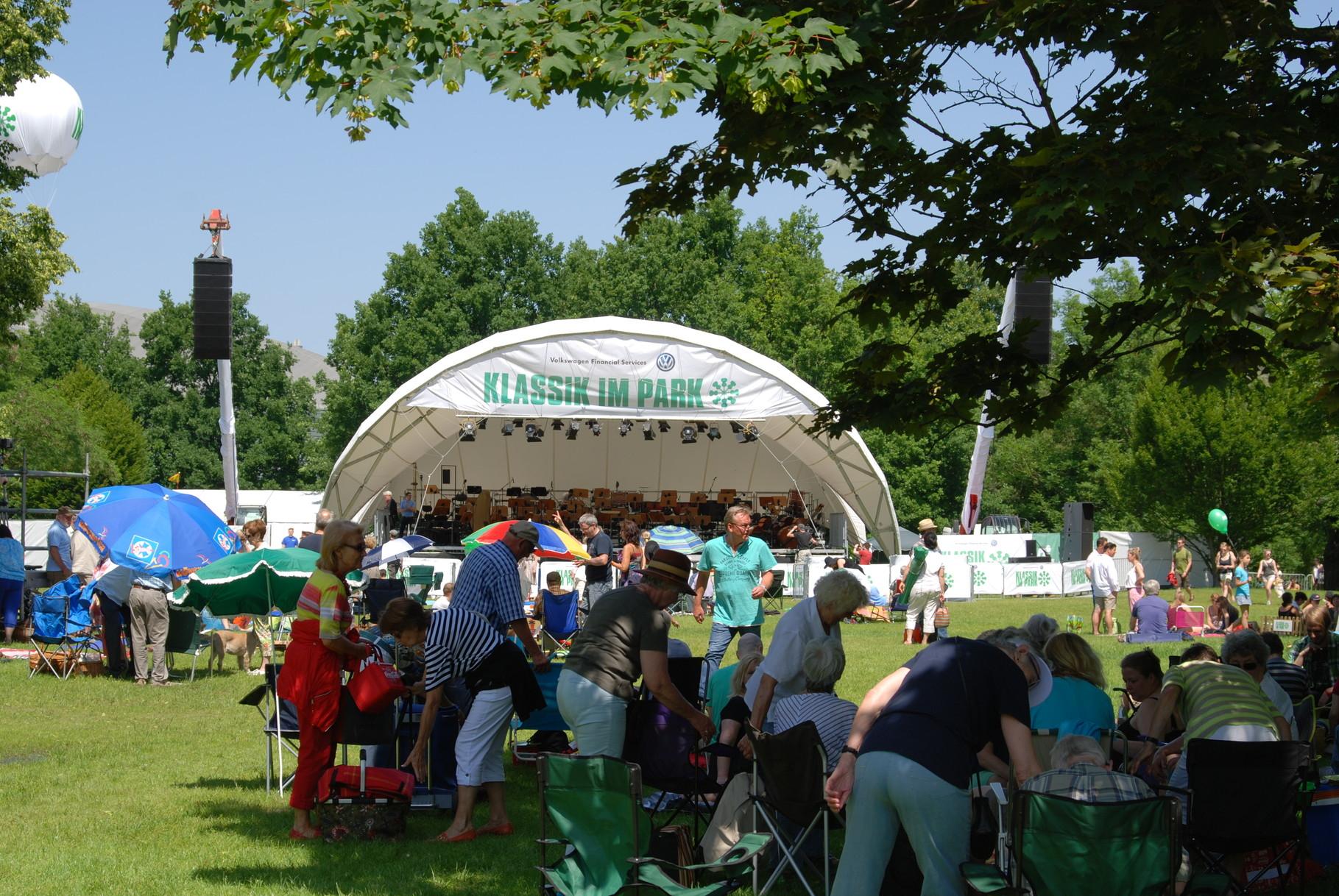 Open Air Bühne, Klassik Open Air, Klassik im Park Braunschweig, Konzertmuschel