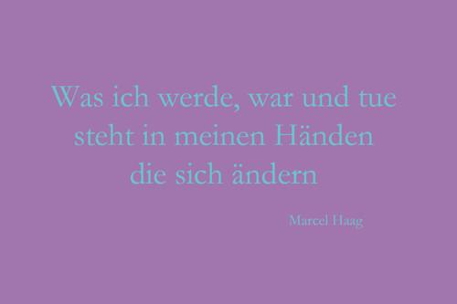 Deutsche Poesie - Was in meinen Händen steht - Marcel Haag