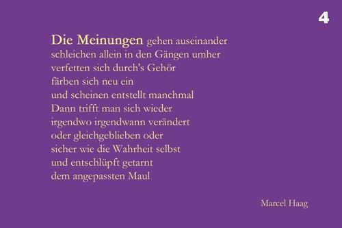 Deutsche Poesie - Die Meinungen gehen auseinander - Marcel Haag