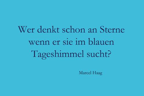 Deutsche Poesie - Wer denkt schon an Sterne - Marcel Haag