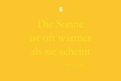 Deutsche Poesie - Die Sonne ist oft wärmer als sie scheint - Marcel Haag