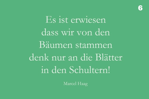 Deutsche Poesie -Stammbaum - Marcel Haag