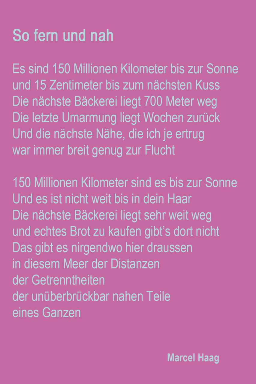 Deutsche Poesie - So fern und nah - Marcel Haag