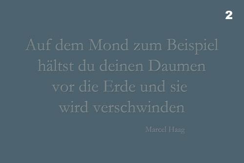 Deutsche Poesie - Auf dem Mond zum Beispiel - Marcel Haag