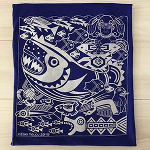 怪(海)物たち-紺青色