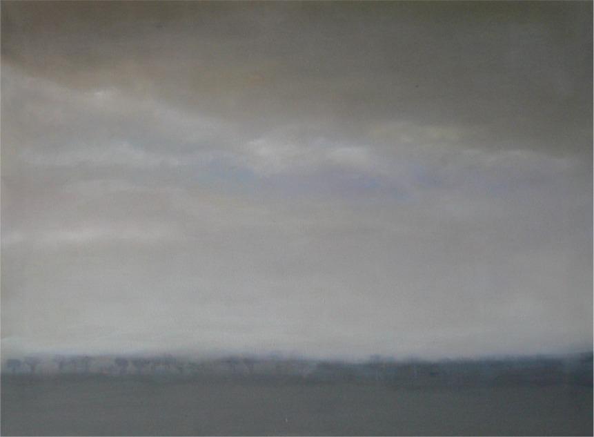landschaftaufdemwegindieeifel | 60x80cm | öl auf leinen | 2008