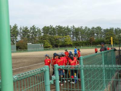 専光寺ソフトボール場で練習の様子その2