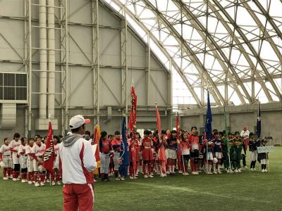 第11回富山カップ小学生女子ソフトボール交流大会開会式の様子