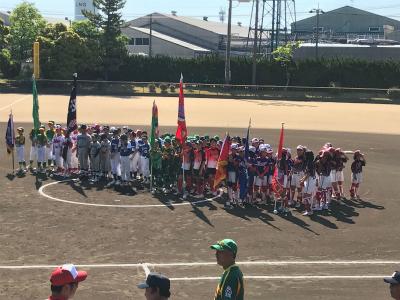 第33回全日本小学生女子ソフトボール大会県予選開会式の様子
