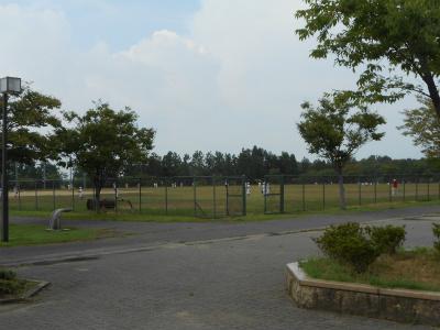 第1グラウンドでは学童野球チームが試合