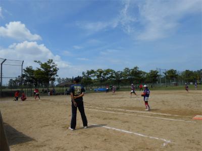 200809伏見台リトルマウスさんとの練習試合1