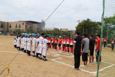 長町フェニックススポーツ少年団さんとの試合1