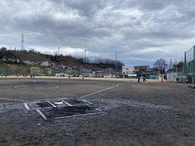 2021/03/21卒団式_親子試合開始前