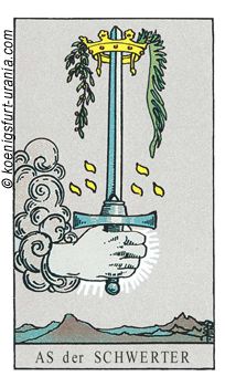 Das Ass der Schwerter, Waite-Smith Tarot