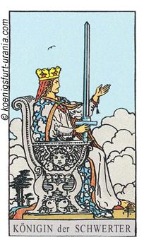 Die Königin der Schwerter, Waite-Smith Tarot