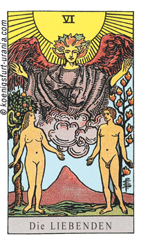 Die Liebenden, Waite-Smith Tarot
