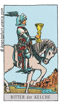 Der Ritter der Kelche, Waite-Smith Tarot