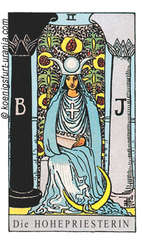 Die Hohepriesterin, Waite-Smith Tarot