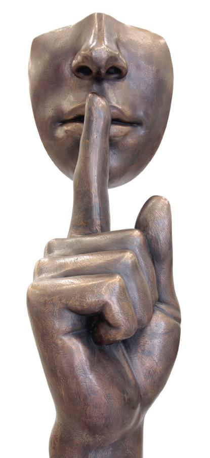 Psst..., ca. 89x32x41 cm, Bronze, 2019