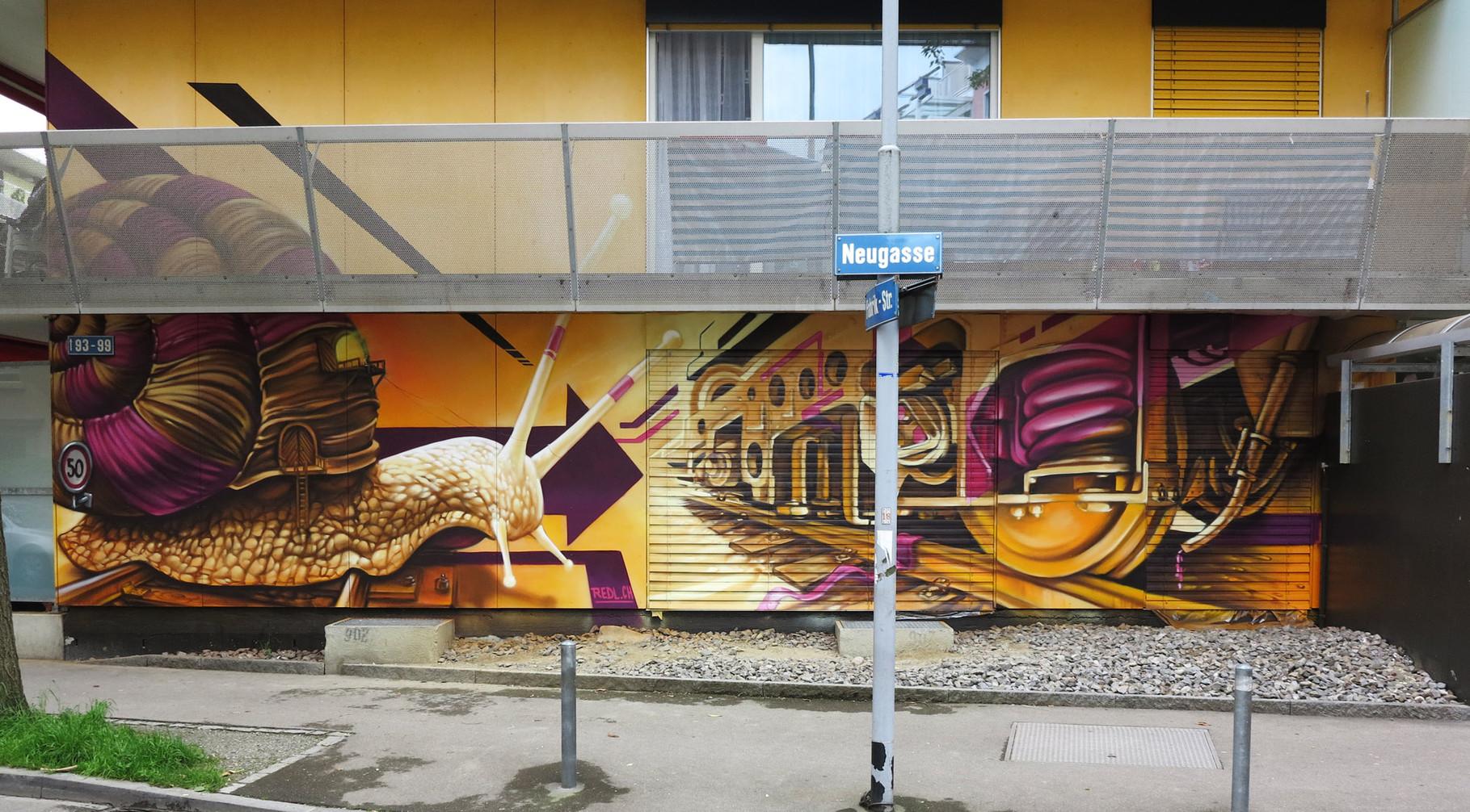 Wandgestaltung für Simo Immobilen, Zürich Neugasse, 2014