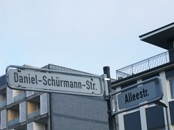 Mitten in der Remscheider City befindet sich die Daniel-Schürmann-Straße
