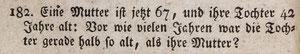 Mathe-Aufgabe aus Schürmanns Rechenbuch