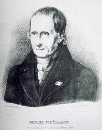 Porträt Daniel Schürmanns (Lithografie von C. W. Korff)