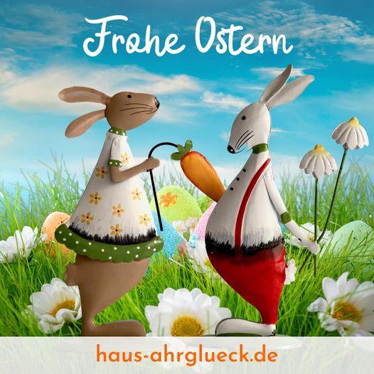 Frohe Ostern wünscht das Team Haus AhrGlück