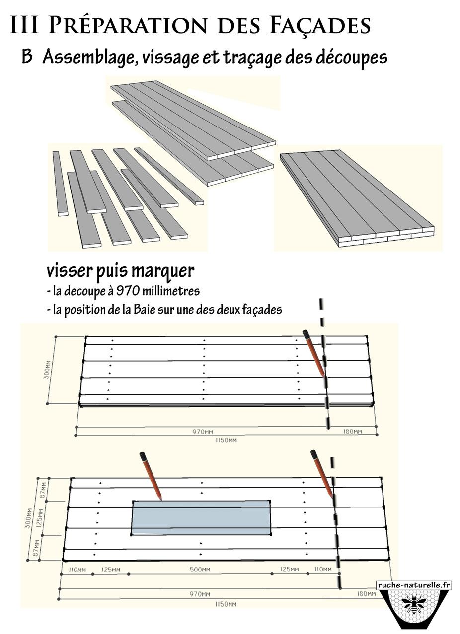 Plan ruche en palettes,  préparation des façades.