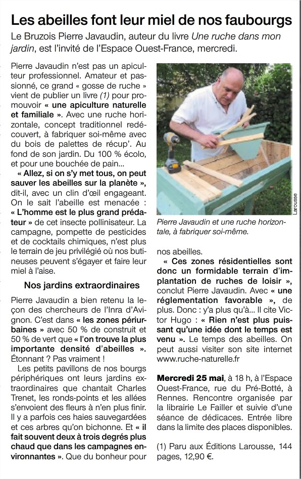 Journal Ouest-France du 24 mai 2016