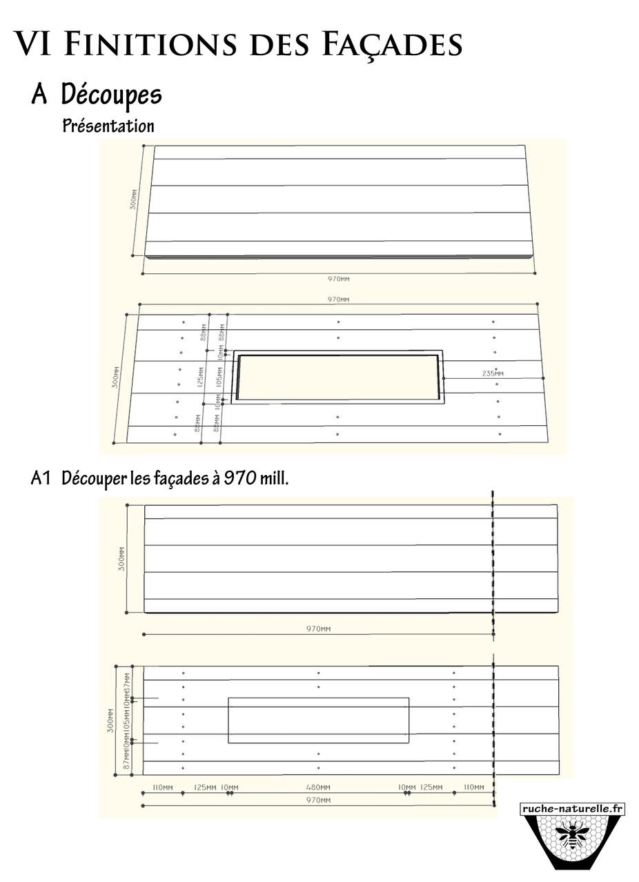 Plan ruche en palettes,  finition des façades.