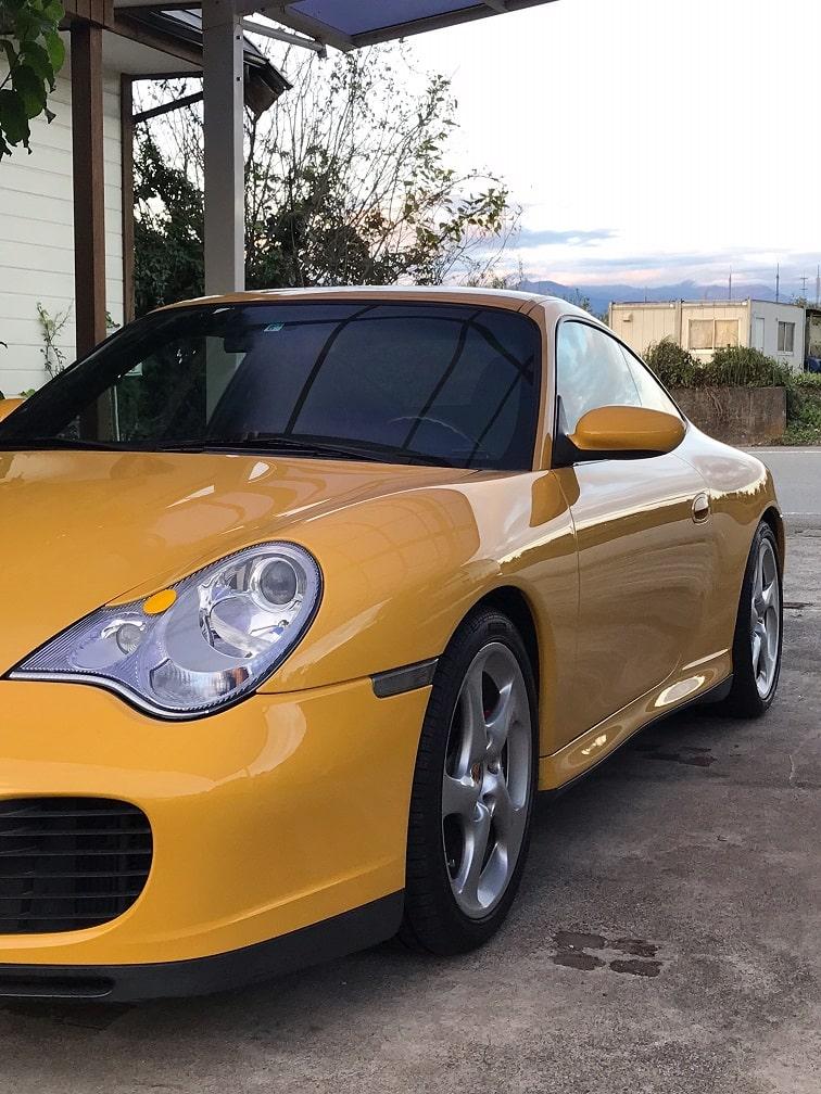 996C4S ヘッドライト磨き完成 埼玉