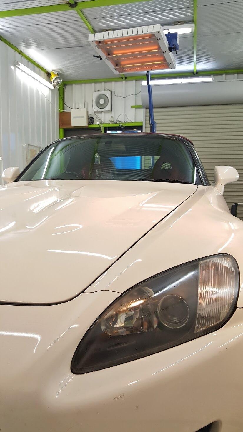 S2000のソフトトップ・幌コーティング完成 埼玉の車磨き専門店
