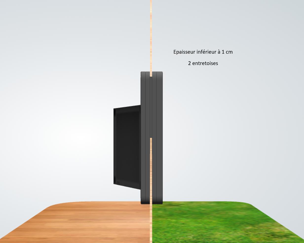porte automatique odomestic entretoise épaisseur inférieur à 1 cm
